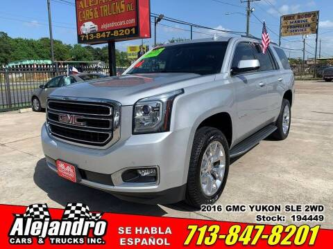 2016 GMC Yukon for sale at Alejandro Cars & Trucks Inc in Houston TX