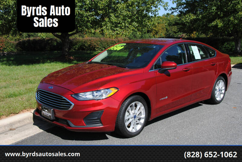 2019 Ford Fusion Hybrid for sale at Byrds Auto Sales in Marion NC