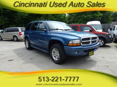 2003 Dodge Durango for sale at Cincinnati Used Auto Sales in Cincinnati OH
