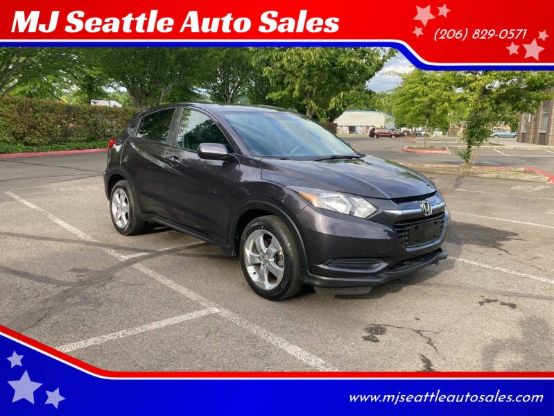 2016 Honda HR-V for sale at MJ Seattle Auto Sales in Kent WA