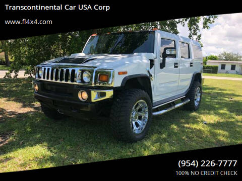 2008 HUMMER H2 for sale at Transcontinental Car USA Corp in Fort Lauderdale FL