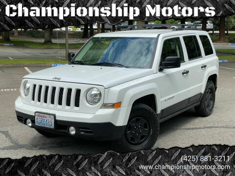 2014 Jeep Patriot for sale at Championship Motors in Redmond WA