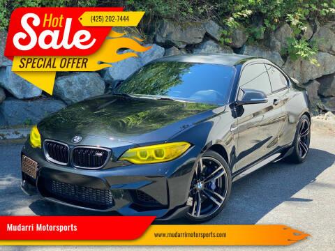 2017 BMW M2 for sale at Mudarri Motorsports in Kirkland WA