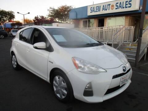 2013 Toyota Prius c for sale at Salem Auto Sales in Sacramento CA