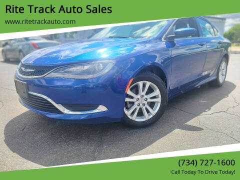 2015 Chrysler 200 for sale at Rite Track Auto Sales in Wayne MI