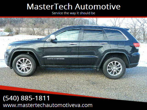 2016 Jeep Grand Cherokee for sale at MasterTech Automotive in Staunton VA