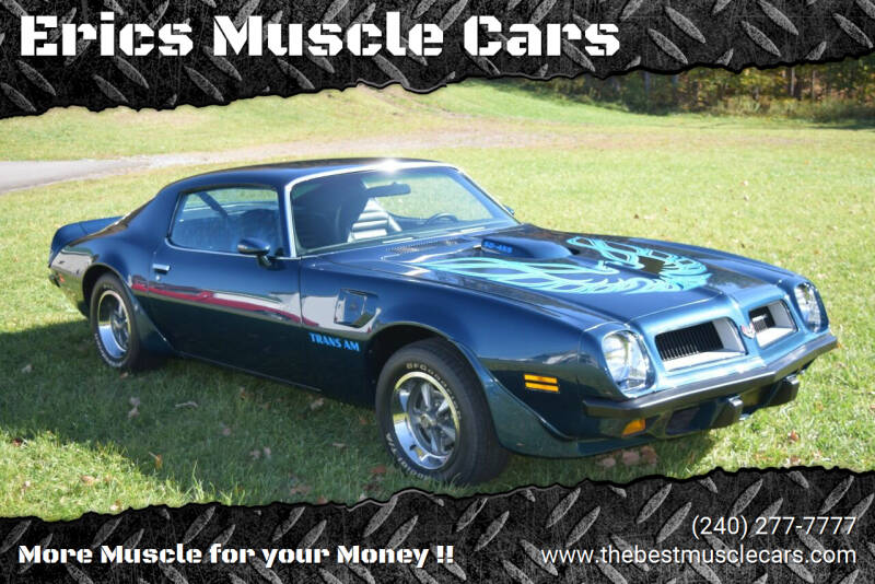 1974 Pontiac Trans Am for sale at Erics Muscle Cars in Clarksburg MD