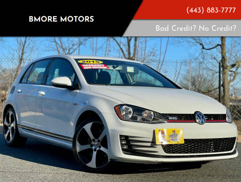 2015 Volkswagen Golf GTI for sale at Bmore Motors in Baltimore MD