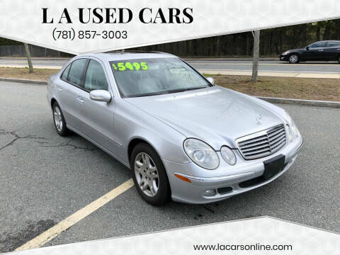 2006 Mercedes-Benz E-Class for sale at L A Used Cars in Abington MA