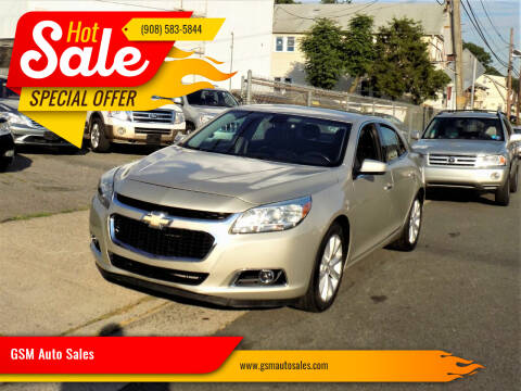 2015 Chevrolet Malibu for sale at GSM Auto Sales in Linden NJ