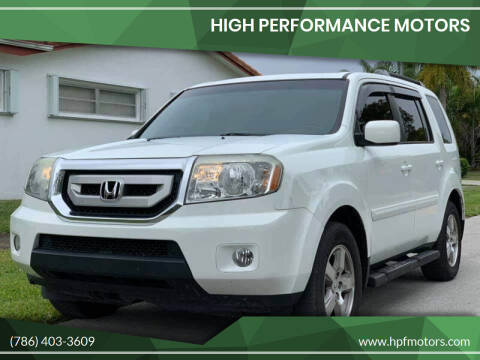2011 Honda Pilot for sale at HIGH PERFORMANCE MOTORS in Hollywood FL
