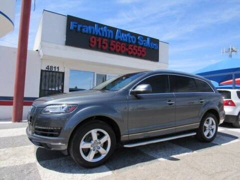 2014 Audi Q7 for sale at Franklin Auto Sales in El Paso TX