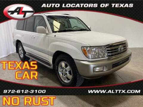 2007 Toyota Land Cruiser for sale at AUTO LOCATORS OF TEXAS in Plano TX