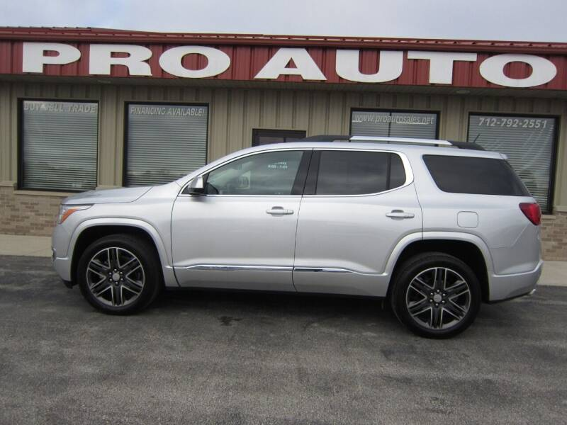 2017 GMC Acadia for sale at Pro Auto Sales in Carroll IA
