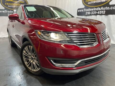 2017 Lincoln MKX for sale at TRADEWINDS MOTOR CENTER LLC in Cleveland OH