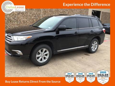 2013 Toyota Highlander for sale at Dallas Auto Finance in Dallas TX