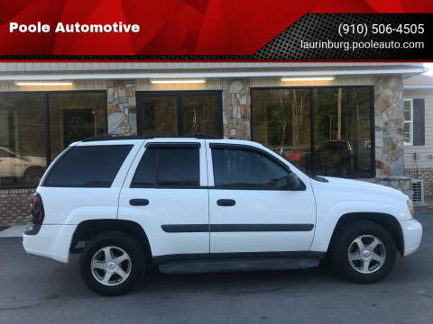 2005 Chevrolet TrailBlazer for sale at Poole Automotive in Laurinburg NC
