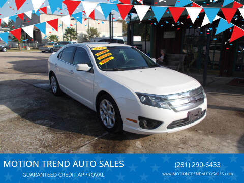 2010 Ford Fusion for sale at MOTION TREND AUTO SALES in Tomball TX