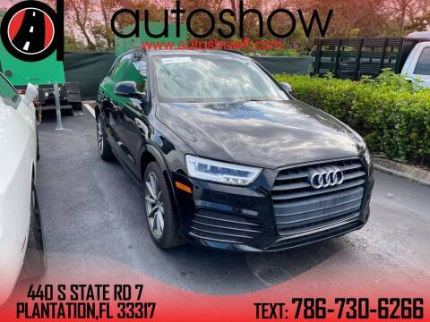 2017 Audi Q3 for sale at AUTOSHOW SALES & SERVICE in Plantation FL