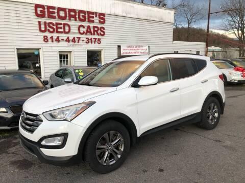 2013 Hyundai Santa Fe Sport for sale at George's Used Cars Inc in Orbisonia PA