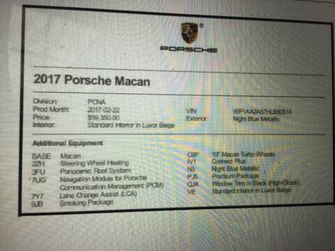 2017 Porsche Macan for sale at E-CarsDirect.Com in Chicago IL