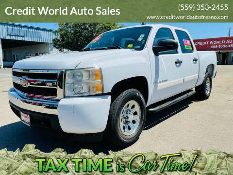 2007 Chevrolet Silverado 1500 for sale at Credit World Auto Sales in Fresno CA