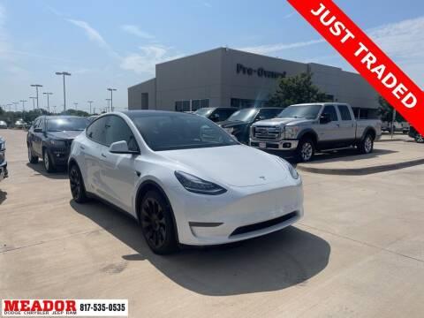 2021 Tesla Model Y for sale at Meador Dodge Chrysler Jeep RAM in Fort Worth TX