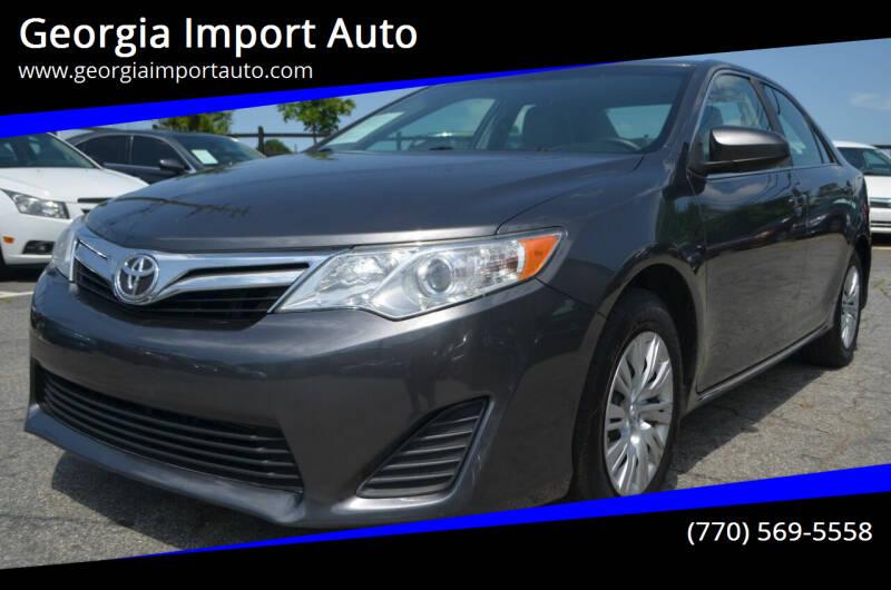2012 Toyota Camry for sale at Georgia Import Auto in Alpharetta GA