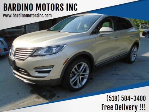 2017 Lincoln MKC for sale at BARDINO MOTORS INC in Saratoga Springs NY