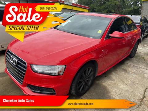 2016 Audi A4 for sale at Cherokee Auto Sales in Acworth GA