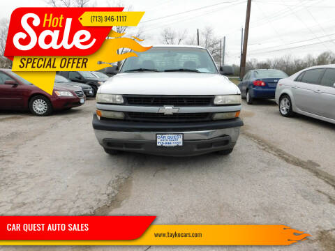 2002 Chevrolet Silverado 1500 for sale at CAR QUEST AUTO SALES in Houston TX