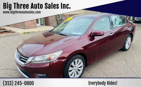 2014 Honda Accord for sale at Big Three Auto Sales Inc. in Detroit MI