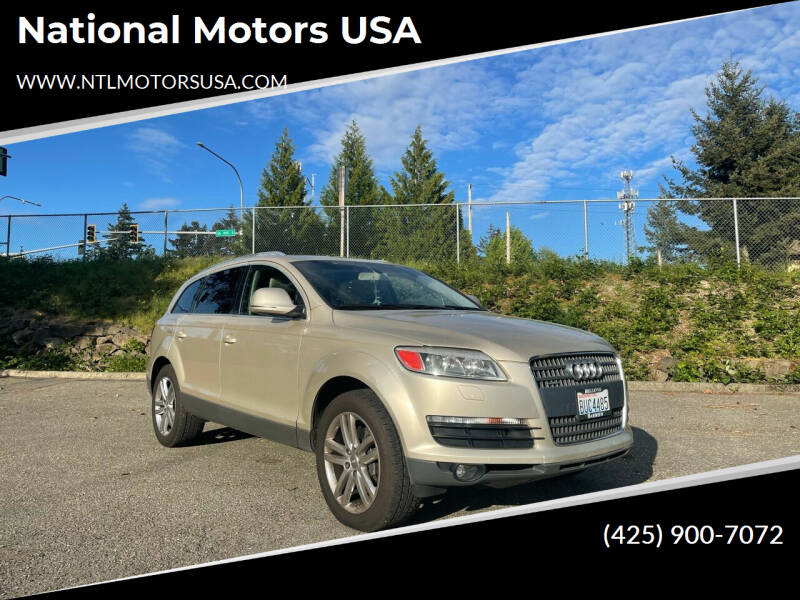2007 Audi Q7 for sale at National Motors USA in Federal Way WA