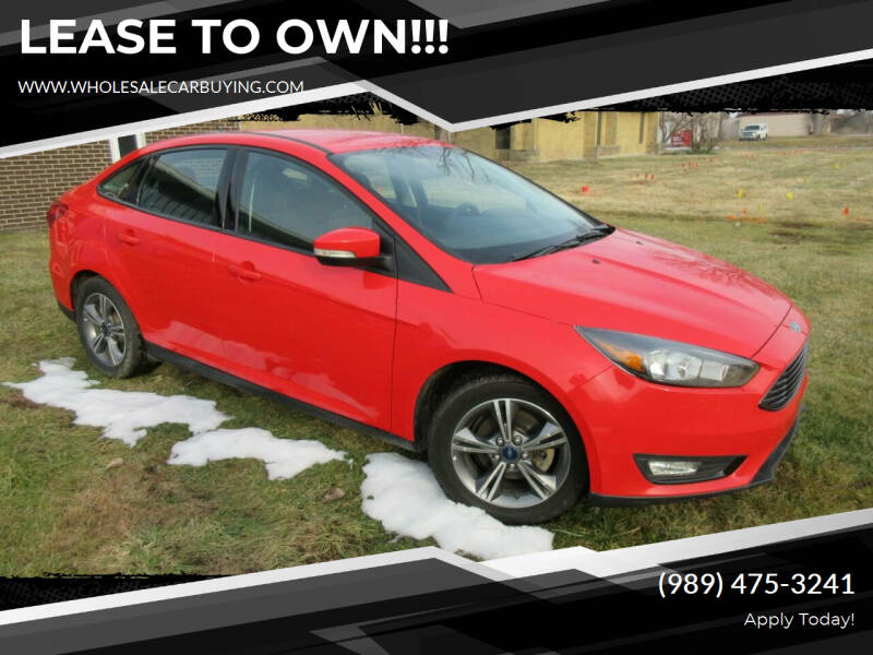 2017 Ford Focus for sale at Wholesale Car Buying in Saginaw MI