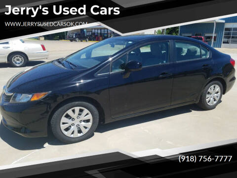 2012 Honda Civic for sale at Jerry's Used Cars in Okmulgee OK