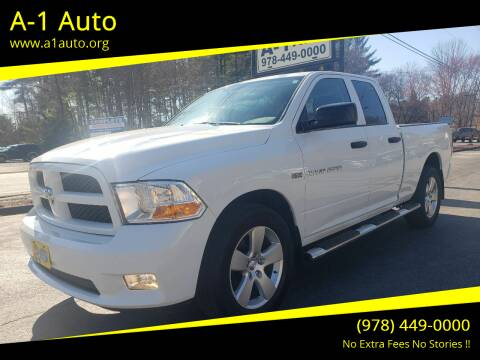 2012 RAM Ram Pickup 1500 for sale at A-1 Auto in Pepperell MA