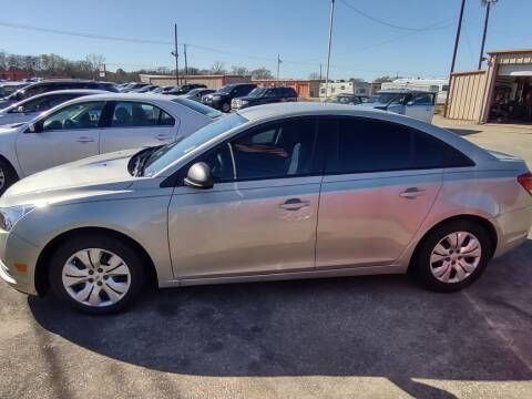 2014 Chevrolet Cruze for sale at BIG 7 USED CARS INC in League City TX