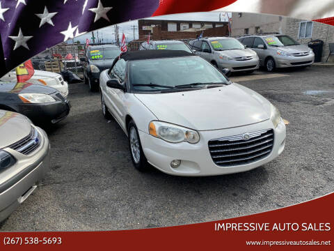 2005 Chrysler Sebring for sale at Impressive Auto Sales in Philadelphia PA