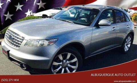 2004 Infiniti FX35 for sale at ALBUQUERQUE AUTO OUTLET in Albuquerque NM