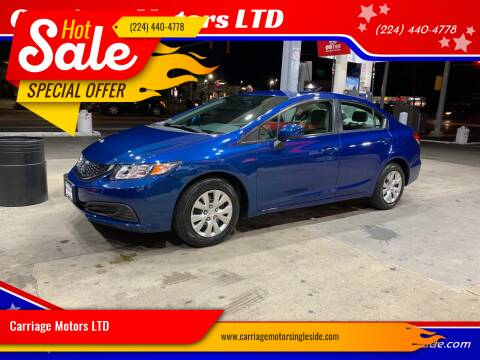 2013 Honda Civic for sale at Carriage Motors LTD in Ingleside IL