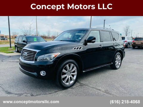 2011 Infiniti QX56 for sale at Concept Motors LLC in Holland MI