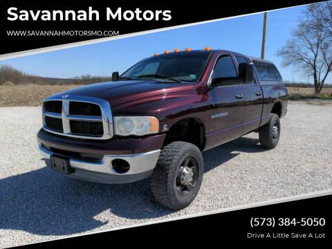 2005 Dodge Ram Pickup 2500 for sale at Savannah Motors in Elsberry MO