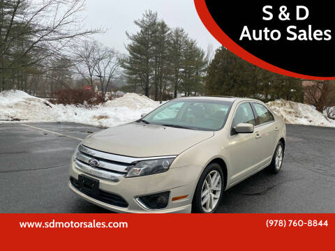 2010 Ford Fusion for sale at S & D Auto Sales in Maynard MA
