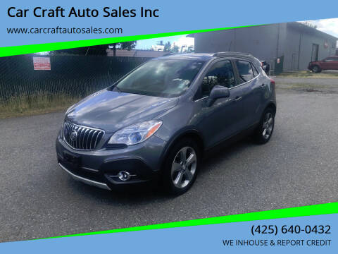 2013 Buick Encore for sale at Car Craft Auto Sales Inc in Lynnwood WA