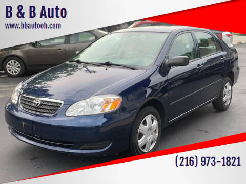 2008 Toyota Corolla for sale at B & B Auto in Cleveland OH