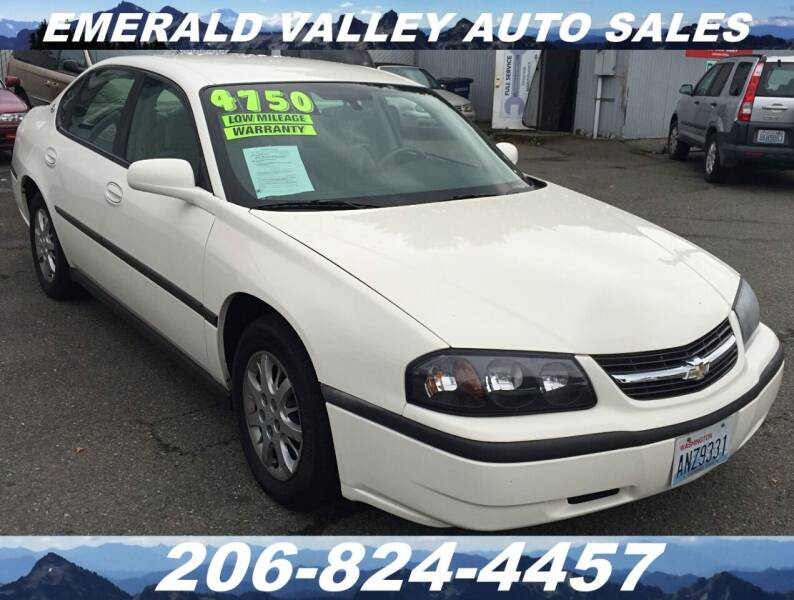 2005 Chevrolet Impala for sale at Emerald Valley Auto Sales in Des Moines WA