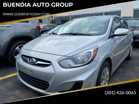 2012 Hyundai Accent for sale at BUENDIA AUTO GROUP in Hasbrouck Heights NJ