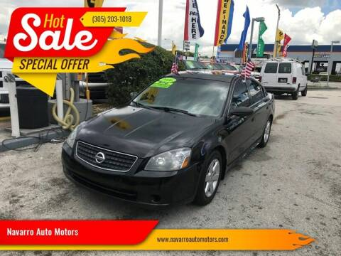 2006 Nissan Altima for sale at Navarro Auto Motors in Hialeah FL