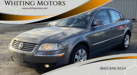 2005 Volkswagen Passat for sale at Whiting Motors in Plainville CT