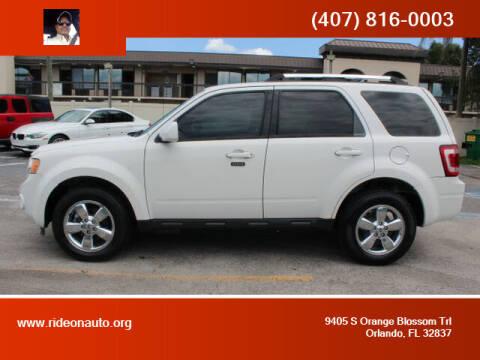 2009 Ford Escape for sale at Ride On Auto in Orlando FL